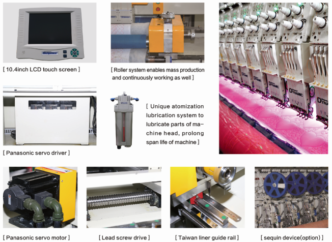 High-quality  Richpeace Computerized Multi-Color Dual Roller Quilting Embroidery Machine