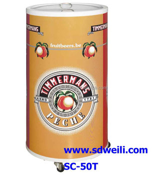promotional round barrel beverage cooler with wheels bbq can cooler round shape cooler - Beverage Coolers