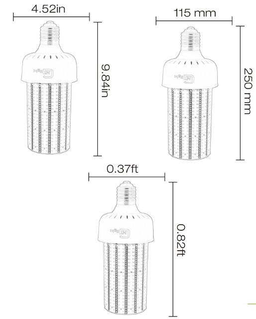 80w Led Corn Bulb 250w Replacement Mogul Base E39 Daylight 5000k ...