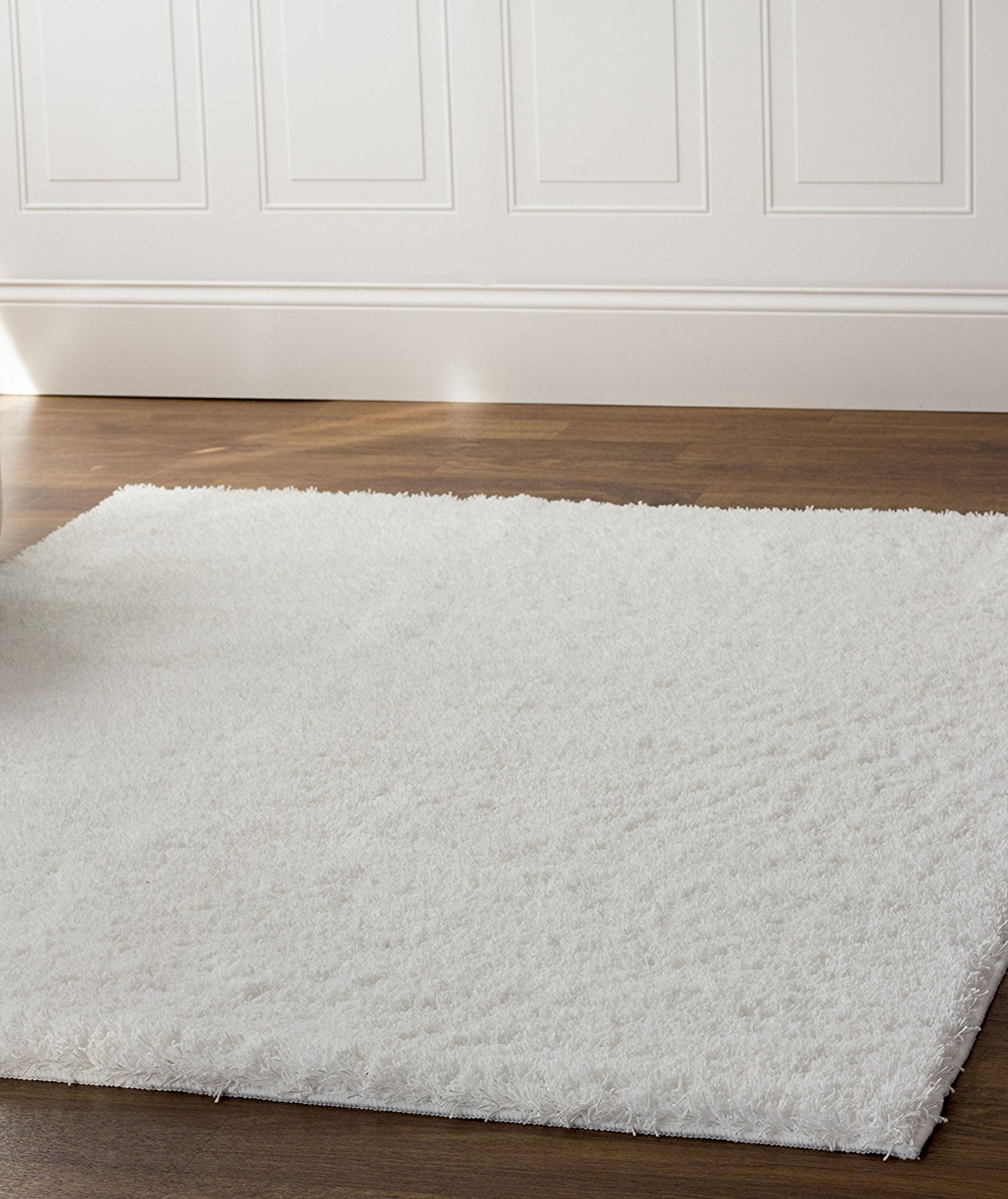 Super Area Rugs Cozy Collection Pure White Rug 5 Feet By