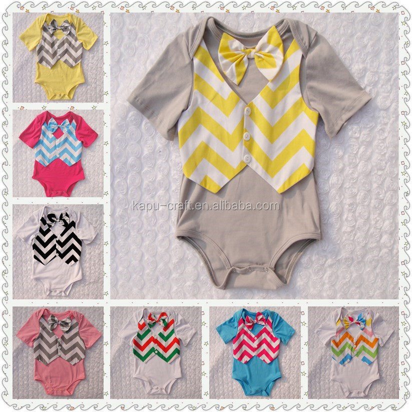 New arrived one-piece baby vest bodysuit with Cute bow tie,baby boy clothes