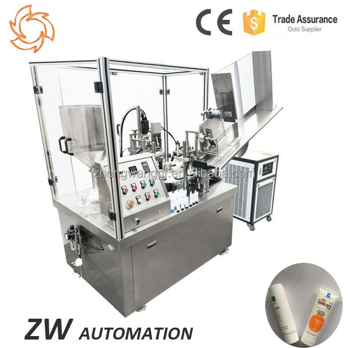 Cream Grease Lotion Filling Automatic Tube Feeding Machine