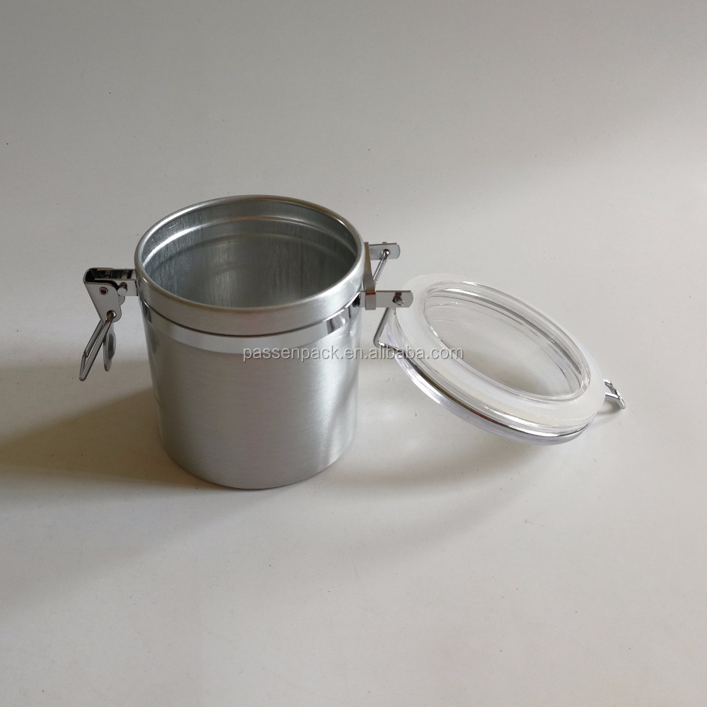 250g Airtight Coffee Canister Stainless Steel Storage Container for Coffee and More