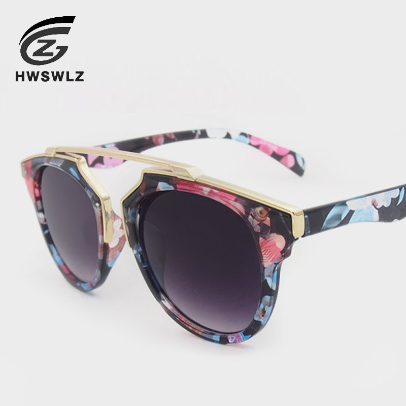 LZL Summer Style Vintage Metal Frame Sunglasses Women Brand Designer Cat Eye Glasses Fashion Women Decoration Men Eyewear