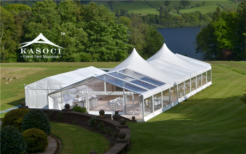 Malaysia 15m X 20m Wedding Marquee Tent With Clear Vinyl
