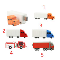 Container car/lorry/truck transportation tool novelty shape 16gb customized pvc usb flash drive