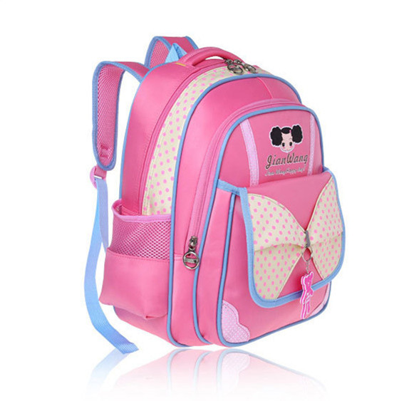 c8b223e426 girl polka dot backpack children school backpack princess school bag  waterproof kids elementary student schoolbag pink book bag