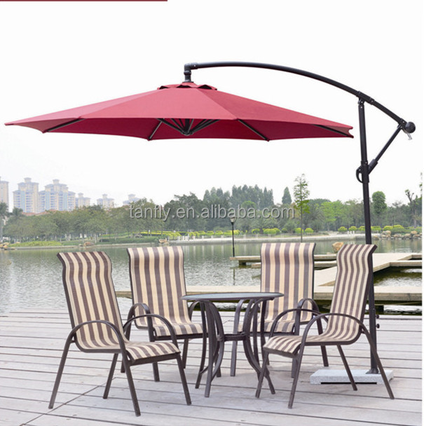 Wholesale 3M Round banana garden patio umbrella parasol with marble base