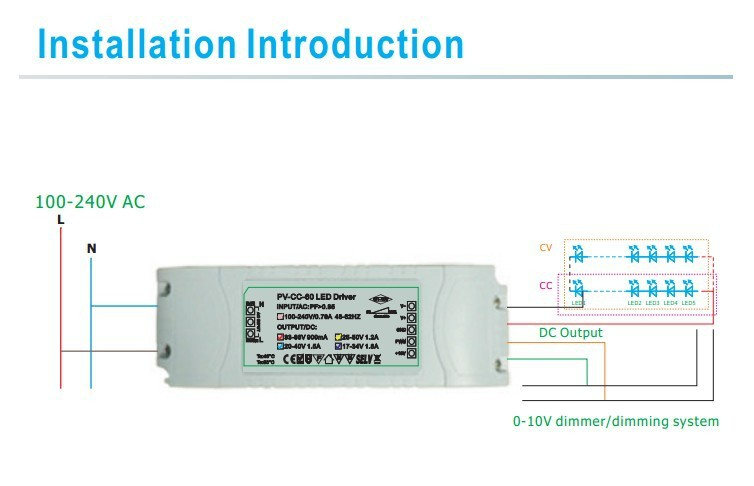 0-10 Volt Dimming Led Driver 1500ma 50w 3 Years Warranty