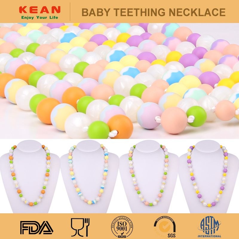 The Newest Unique Designed Silicone Baby Teething Necklace/Amber From Lithuania