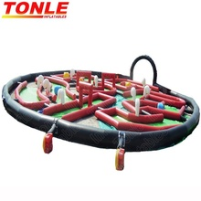 outdoor inflatable 9 hole crazy golf/ mini golf challenge course inflatable sport game for adult kids