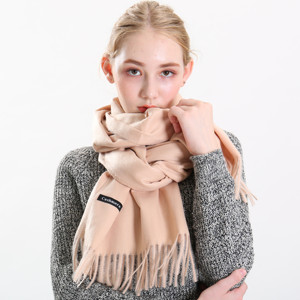 Wholesale Winter Thick Camel Color Cashmere Woman Scarf Manufacture