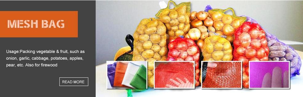 שטוח בדיקת לקוחות באיכות גבוהה שרוך עניבת חקלאי פירות אריזה רשת שק שקיות עם ידית