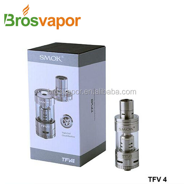 New Products Smok TFV4 tank & Smok xcube ii alibaba wholesale , Black or silver tank smok TFV4 In Stock now top selling