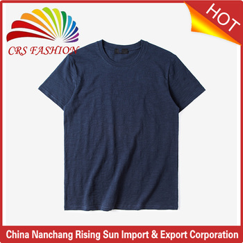 High Quality Bamboo Cotton Plain T Shirt For Men Short