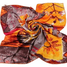 12mm 100% Silk Charmeuse Wholesale Square Digital Silk Scarf Printing
