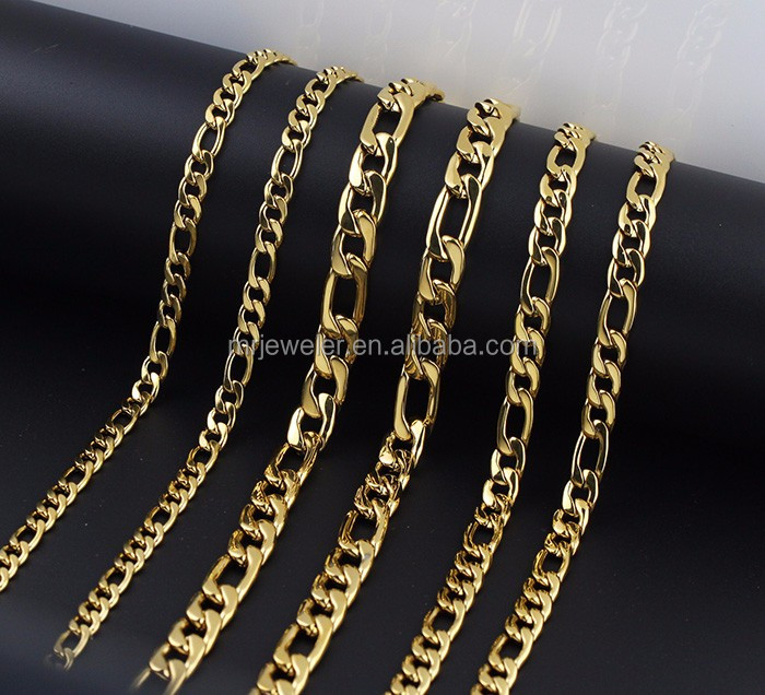 Miss Jewelry 18k Hip Hop Figaro Chain
