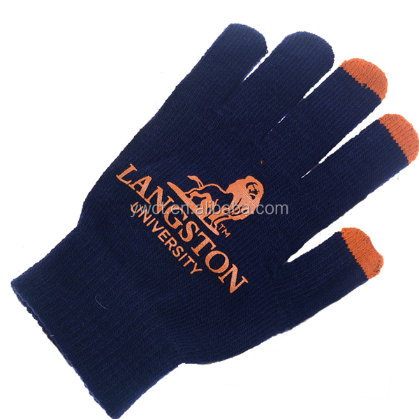 Soft Touch Custom Logo Winter Gloves Acrylic Knit Promotion Gift Gloves