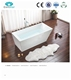 baby bath tub,small compact hydro massage freestanding pink color classical roll top bathtub