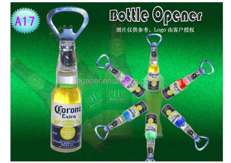 acrylic coroma metal bottle shape opener for mini bar