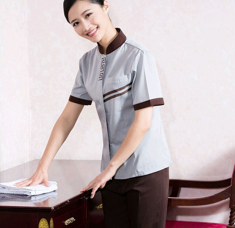 breathable dri fit cleaning staff uniform