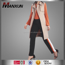 Color Blocked Trousers Ladies Slim-Leg Commando Trousers Long Women's Pants