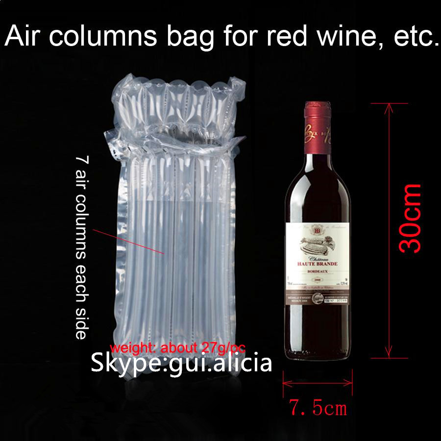Protection Inflatable Plastic Air Bag Packaging For Wine