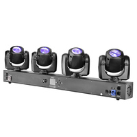 Pro Dj Disco Event Lighting 4X32W RGBW 4in1 LED 4Heads DMX Sharp Dj Beam Bar Moving Head Stage Lights For Stage Equipment Set