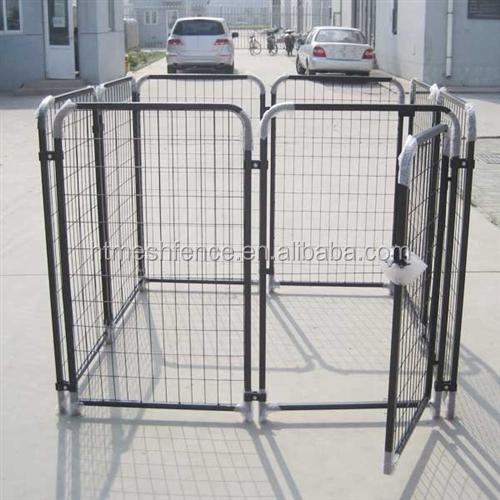 friendly metal large dog kennels anticlimb bar system dog run pen cage
