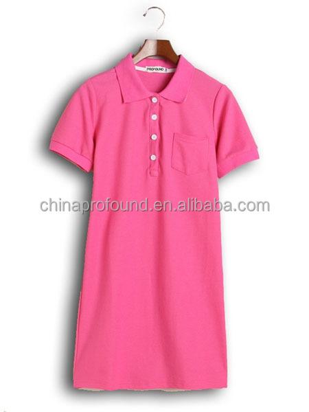449f5842142 High Quality Fashion Long Pattern Plus Size Women Polo Dress - Buy ...