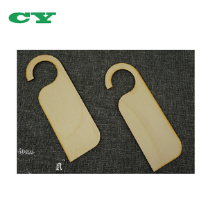 Unpainted Shapes Blank Wood Craft arts 10 pcs Wooden Door Sign Hangers