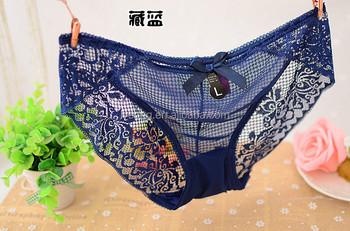 46a9442c8 High-end ultra-fina e transparente de renda Bordado mulher cuecas senhoras  calcinha sexy