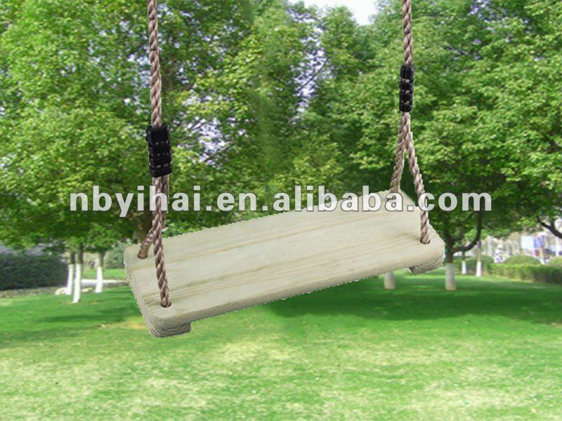 small pine wooden swing