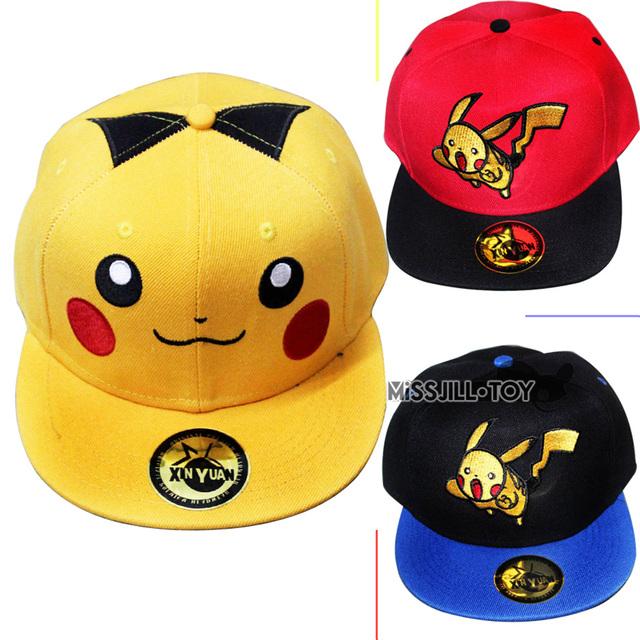 ccae4523317c9 Anime-font-b-Pokemon-b-font-Pikachu-Snapback-Caps-Adult-Baseball-Cap-Cool-Boy-Hip-hop  gorras snapback de pokemon