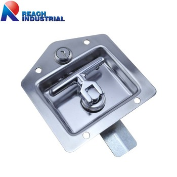 Stainless Steel Flush Mount Key-Locking Recessed Folding T Bar Handle Lock