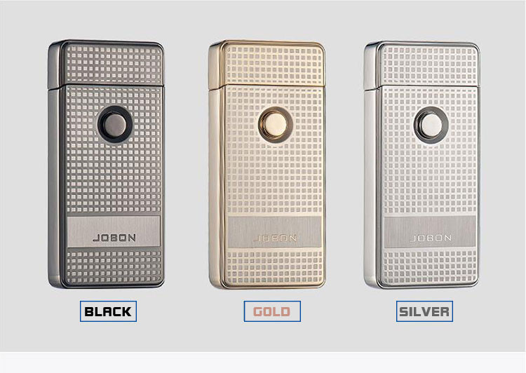 Jobon Dual Arc USB Lighters Plasma Arc Ignition Lighters Windproof USB Lighters
