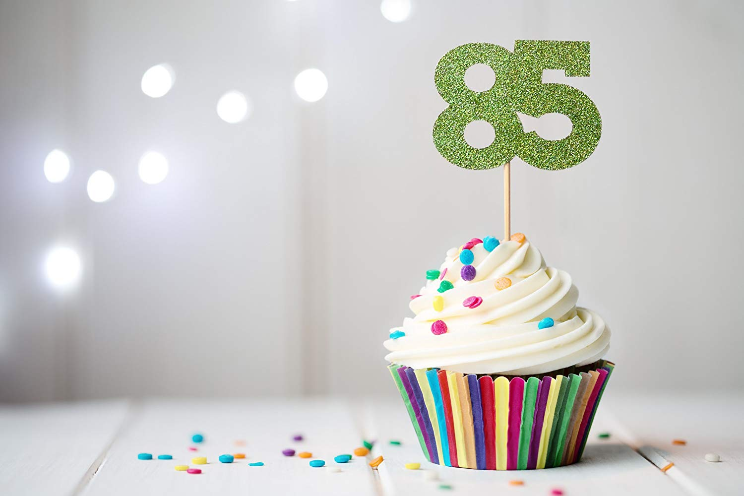 Get Quotations 85 Cupcake Topper 85th Birthday Anniversary