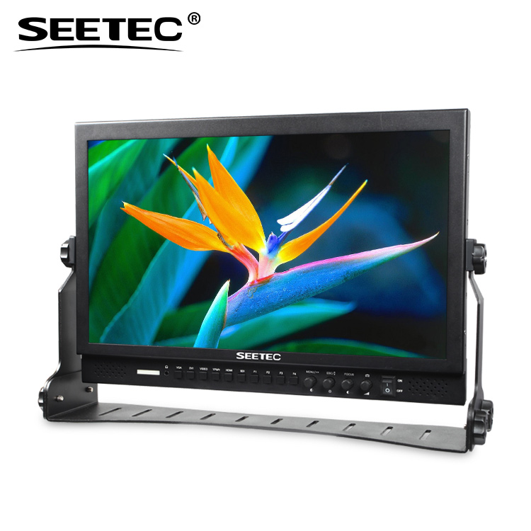 SEETEC 16:9 widescreen 1920x1080 pixels video shooting monitor lcd 17 built-in LED tally indicators