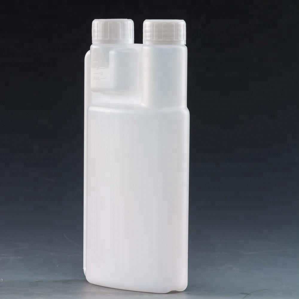 500 мл пластиковое HDPE дозируя масло топлива машинное масло двойная бутылка шеи