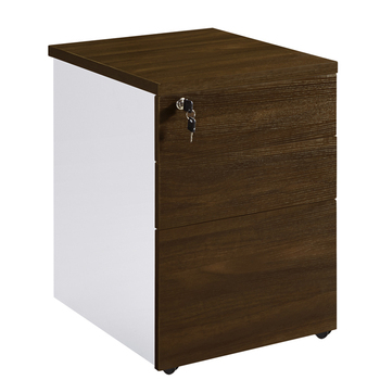 Classic Melamine Finish Wood Lockable Mobile Lateral File Pedestal Cabinet with 3 Drawers