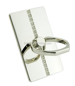 Promotion gift smart phone silver gold ring holder with diamond