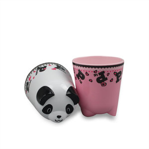 Cartoon design animal panda shaped melamine kids cups
