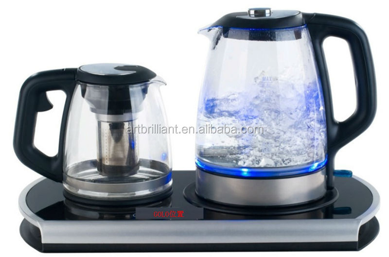 Digital control boiler 1.7L glass electrical kettle and tea pot