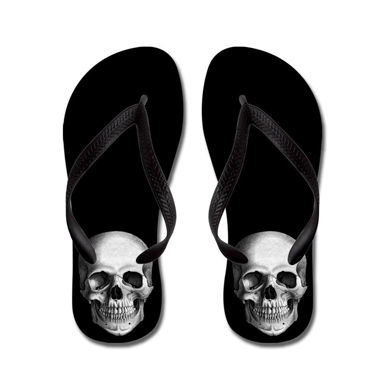 02da6698d3b33c Get Quotations · CafePress Skull - Flip Flops