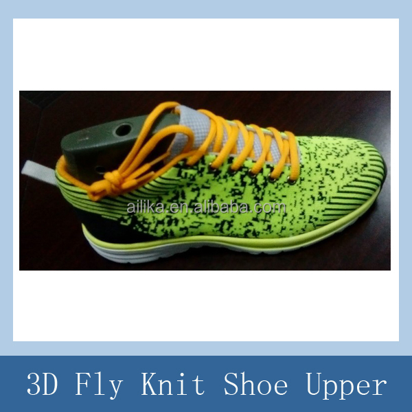 2015 New Style Fly knit shoe uppers/seamlessly cotton knitted uppers
