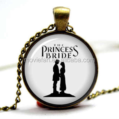 Princess Bride Necklace Buttercup and Westly Farmboy As you Princess Bride Jewelry Book Necklace