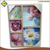 Beautiful flower 5pcs wholesale custom decorative picture frame painting