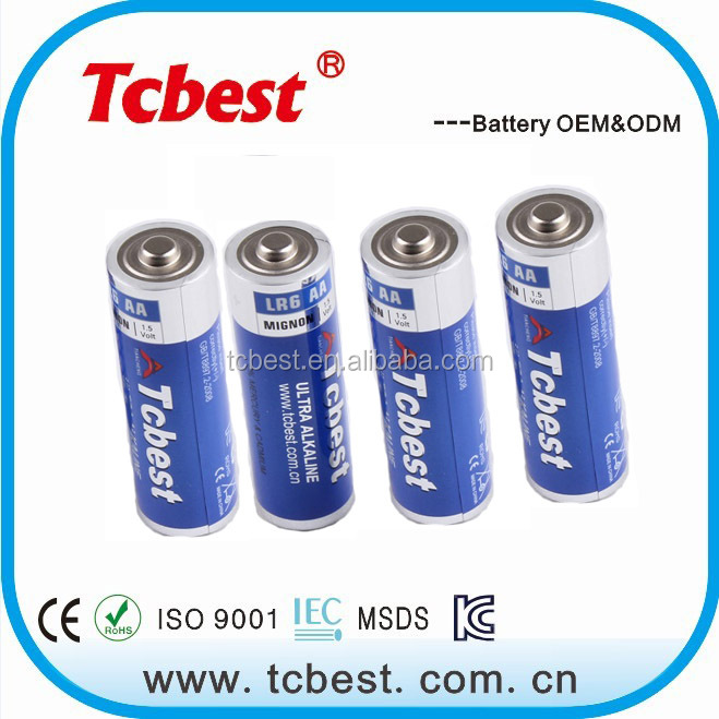 with KC ROHS CE Tcbest battery similar with rocket lr6 alkaline aa battery