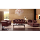 Hot selling products classic european set living room designs luxury half leather sofa from gold supplier