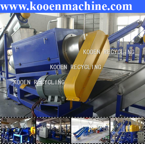 New condition used scrap waste plastic pp pe film recycle machine crushing washing and drying production line